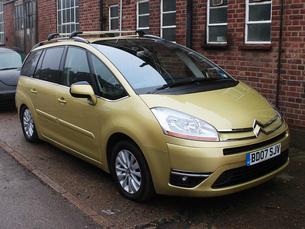 2007 citroen c4 grand picasso exclusive 2 0 diesel auto esg gold 67k fsh 7 seats ebay. Black Bedroom Furniture Sets. Home Design Ideas