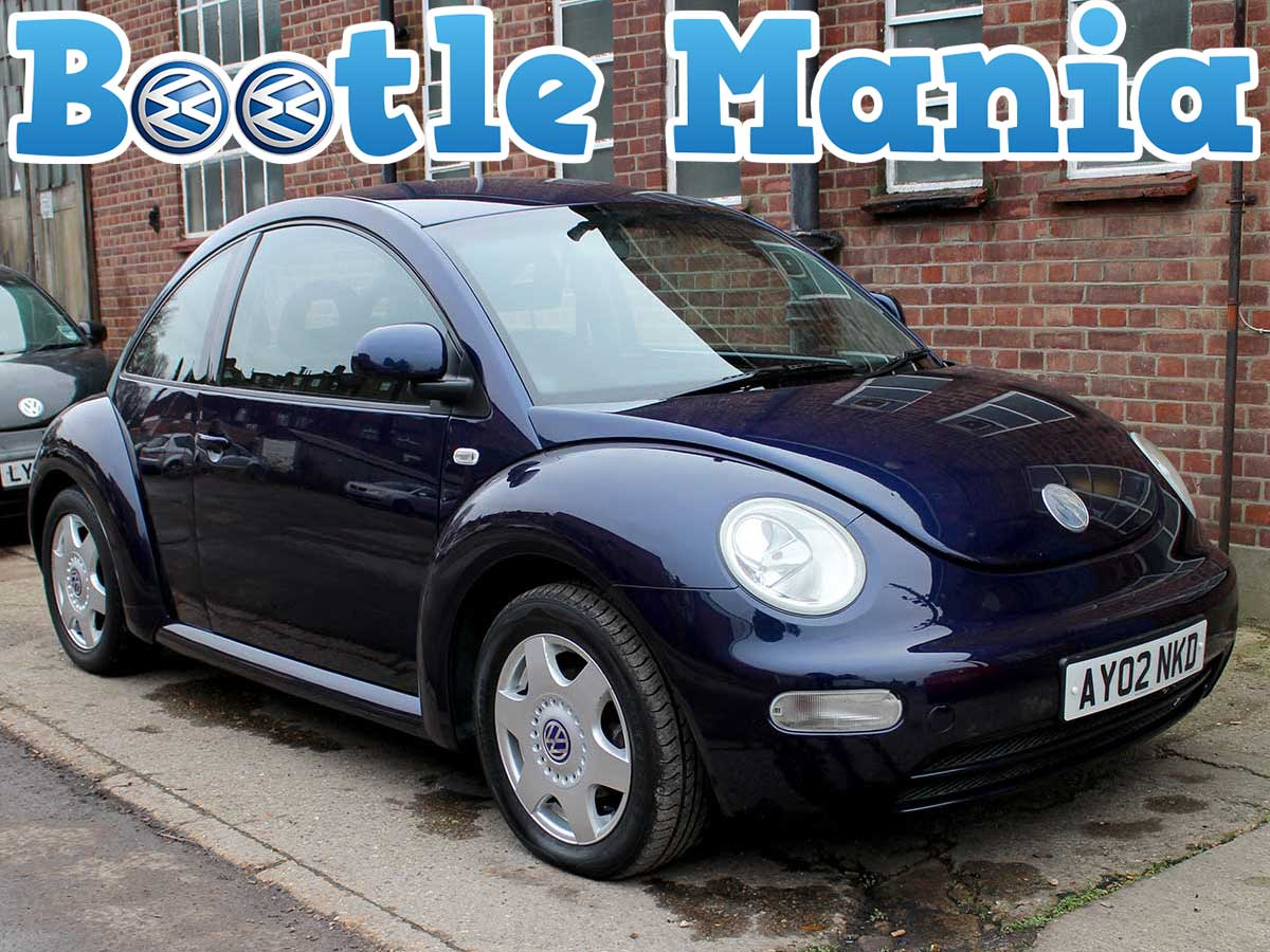 2002 Volkswagen Beetle Herbie 2.0 SE in Dark Blue with Body Decals Years MOT Full Service AY02NKD
