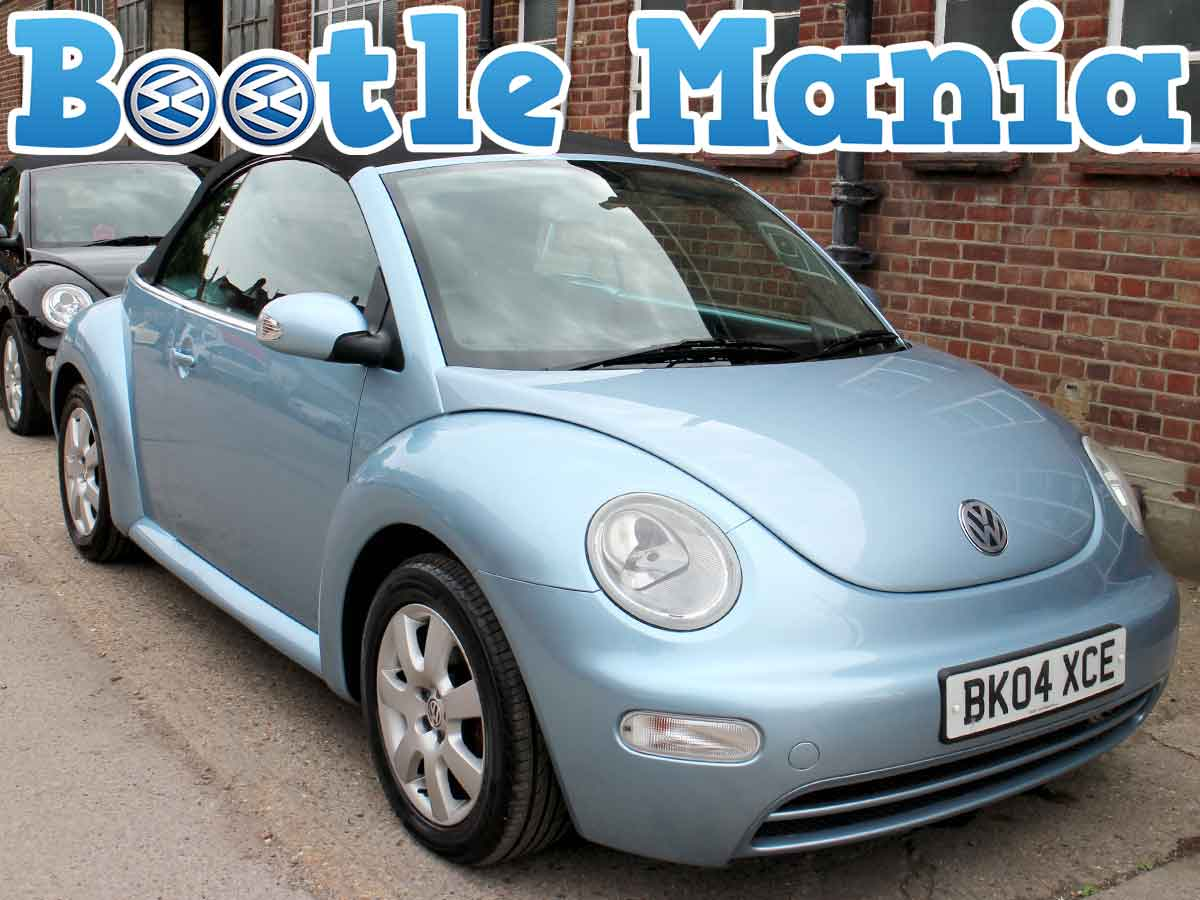 2004 Volkswagen Beetle 1.6 Convertible SE in Blue 88K Full Service BK04XCE