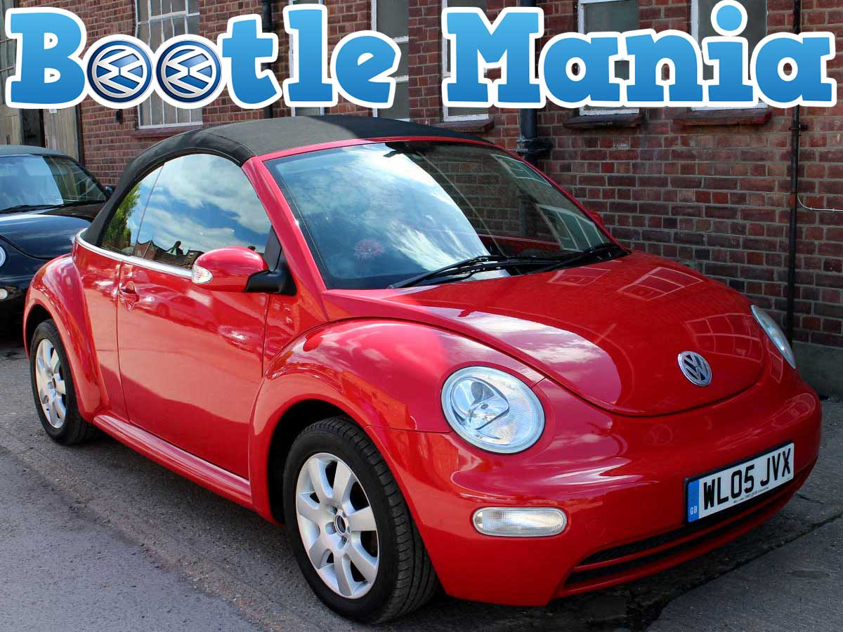 2005 Volkswagen Beetle Herbie 2.0 SE Convertible in Red Years MOT Full Service WL05JVX