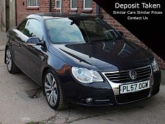 2008 Volkswagen EOS 2.0 FSI Individual Leather in Dark Blue Metallic Full Service History Excellent Condition PL57OGW