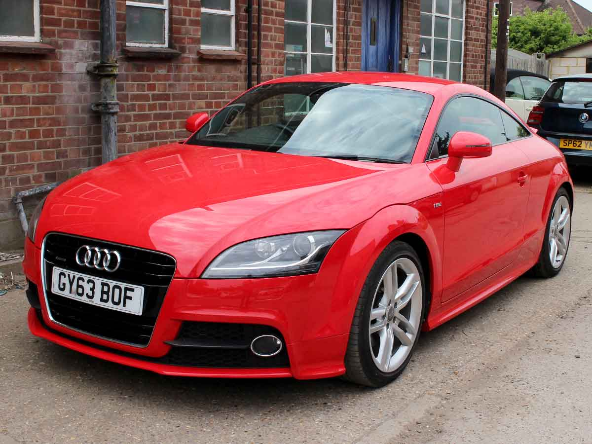2014 audi tt s line quattro 2 0 tdi diesel 2dr red 34 200 miles 2 owners full audi service. Black Bedroom Furniture Sets. Home Design Ideas