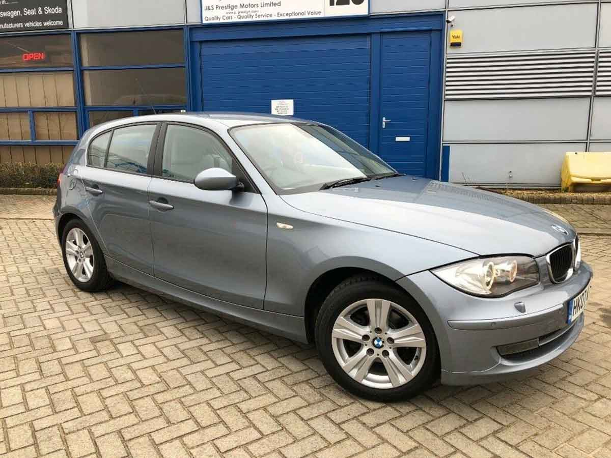 2007 BMW 116i SE 5 Door Petrol Grey AC Alloys Xenon Headlamps Front Rear Park Sensors 76,000 miles 2 Owners FSH HK07WXM