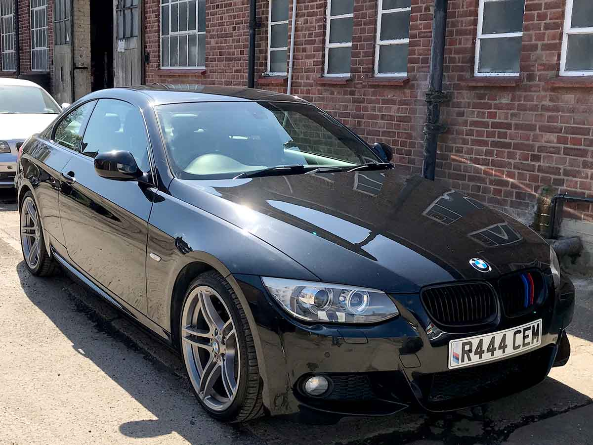 2011 BMW 320i Coupe Auto M Sport Black 19 inch Alloys Black Leather AC Heated Seats Park Sensors Folding Mirrors FSH 80,000 miles R444CEM