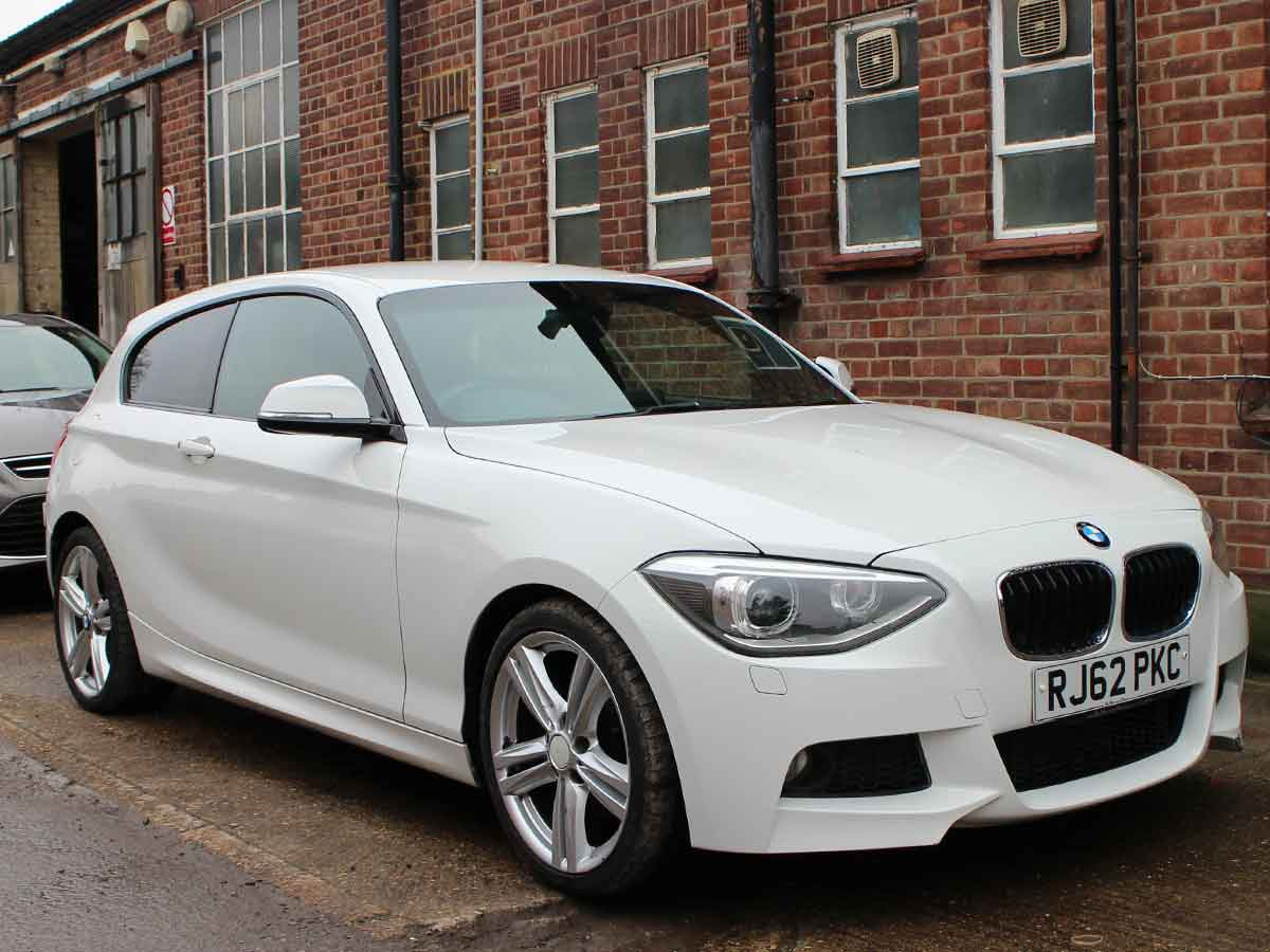 2013 BMW 125D 2.0 M SPORT 3 Doors Manual White Black Leather AC 2 Owners 109,000 miles RJ62PKC