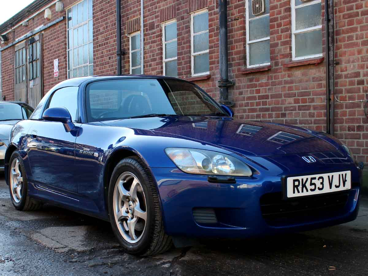 2003 Honda S2000 Blue Black Leather Hard Top with Stand and Tonnuea Cover 110,000 FSH Excellent Condition RK53VJV