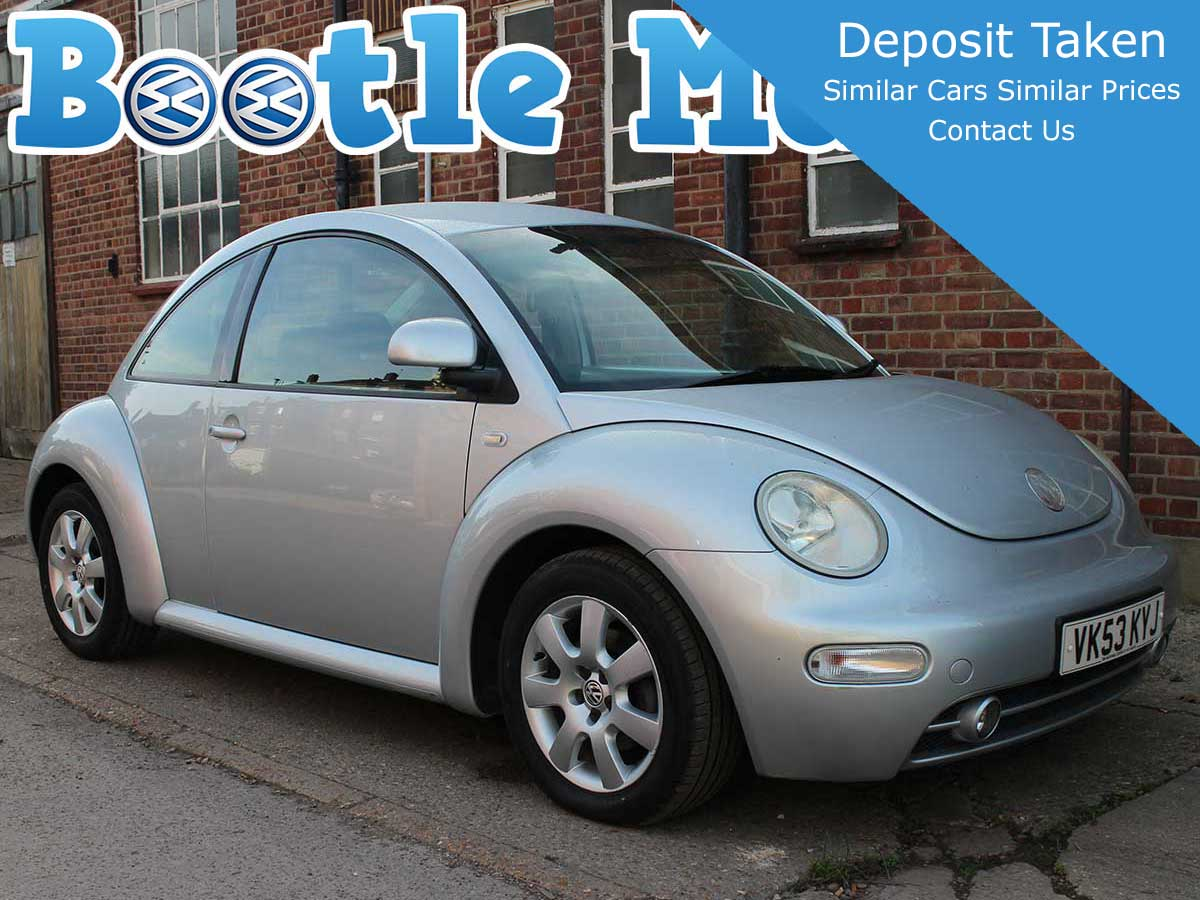 2003 Volkswagen Beetle 2.0 SE in Silver with Full Winter Pack and Parking Sensors Years MOT Full Service VK53KYJ