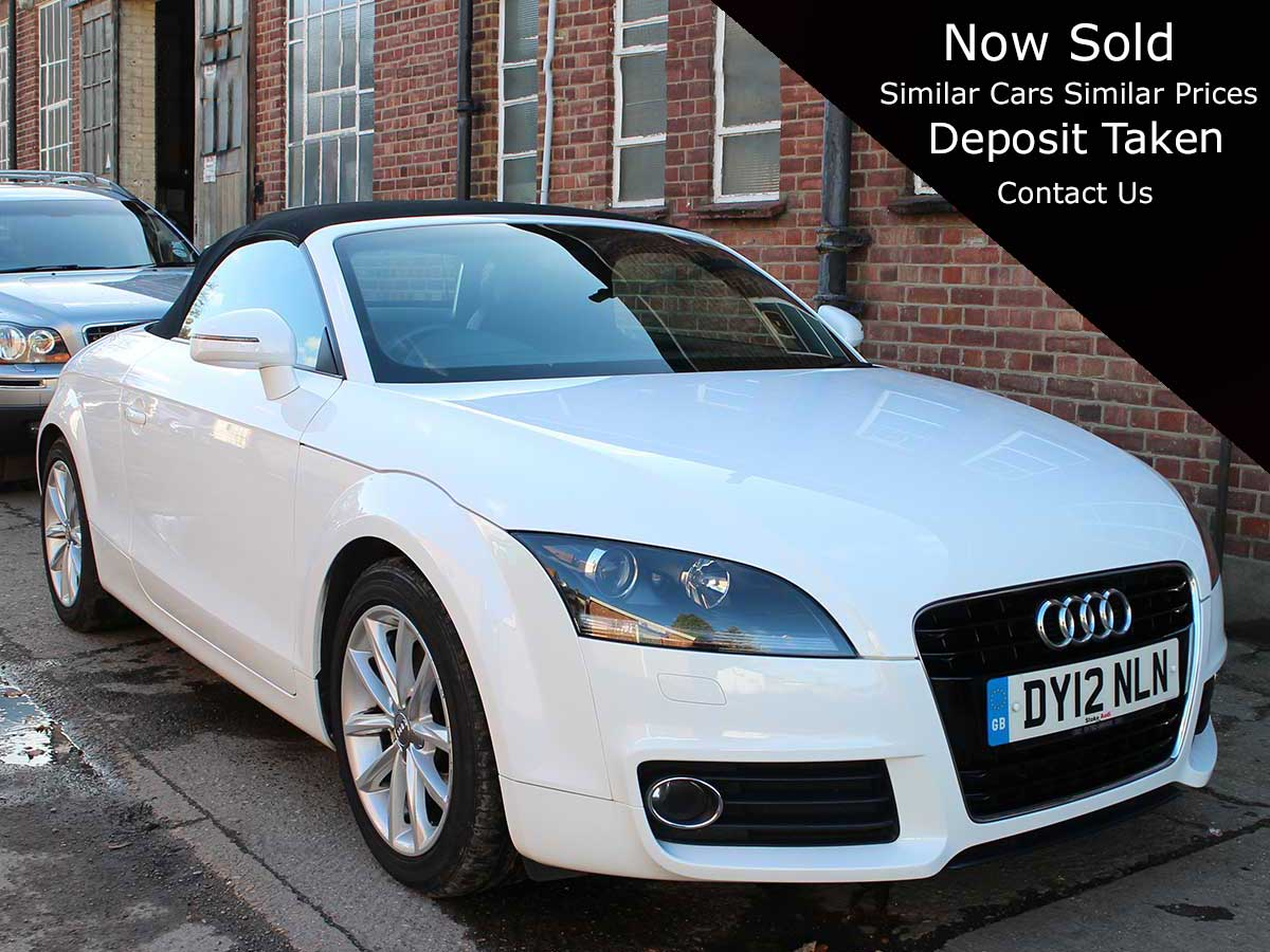 2012 Audi TT 1.8T FSI Roadster Manual 6 Speed White 2 Owners 46,000 miles DY12NLN