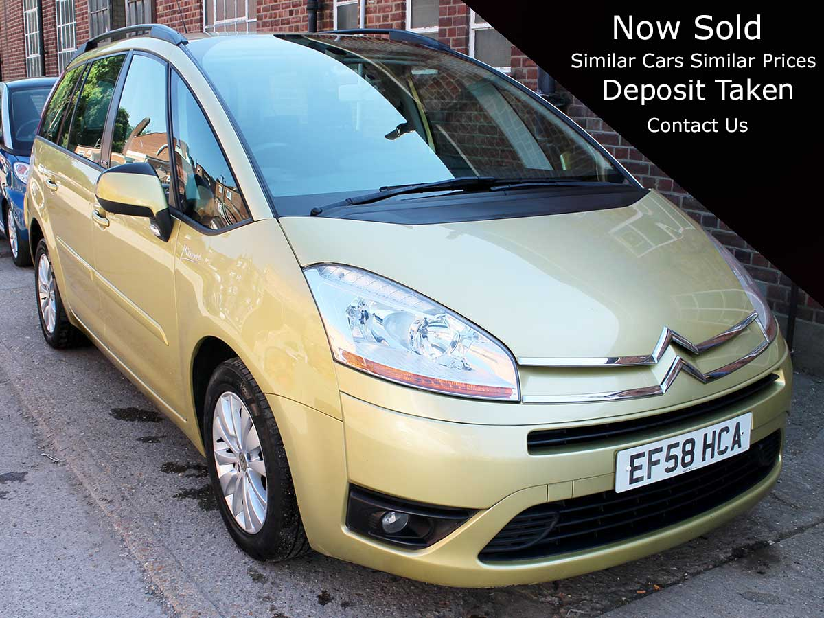 2009 Citroen C4 Grand Picasso 1.6 VTR+ HDI Auto Diesel Gold 1 Previous Owner FSH EF58HCA