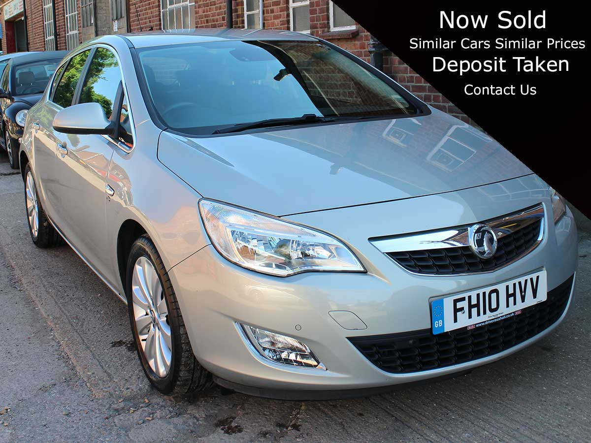 2010 Vauxhall Astra 1.6i 16V Elite 5dr Auto Silver Black Leather 42,000 miles 2 Owners FSH FH10HVV