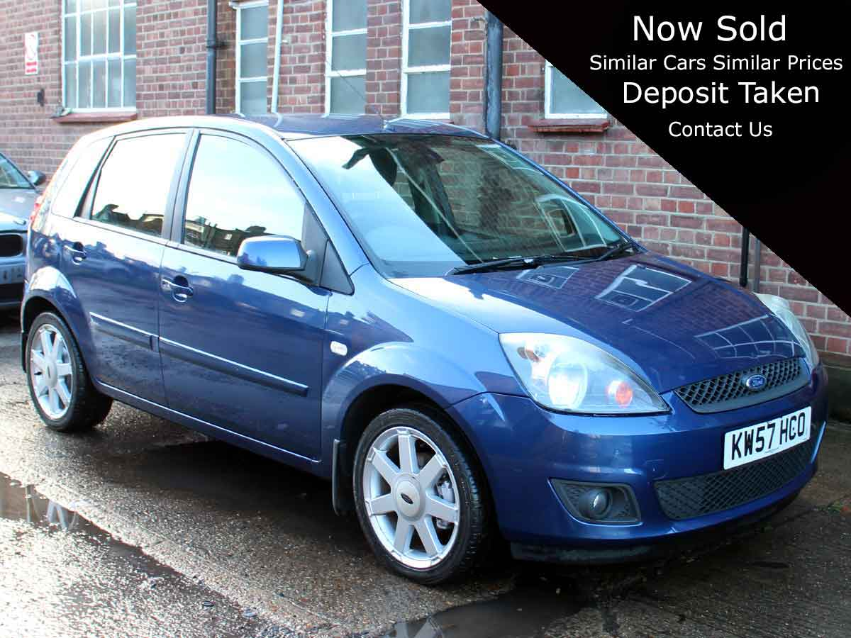 2008 Ford Fiesta edit 1.4 Zetec Blue Edition 5dr Air Con Met Blue 47,000 FSH KW57HCO