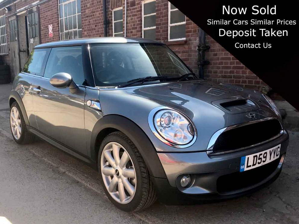 2009 Mini 1.6 Cooper S 3dr Petrol Manual Silver Black Leather AC 1 owner 37,000 miles LD59YYC