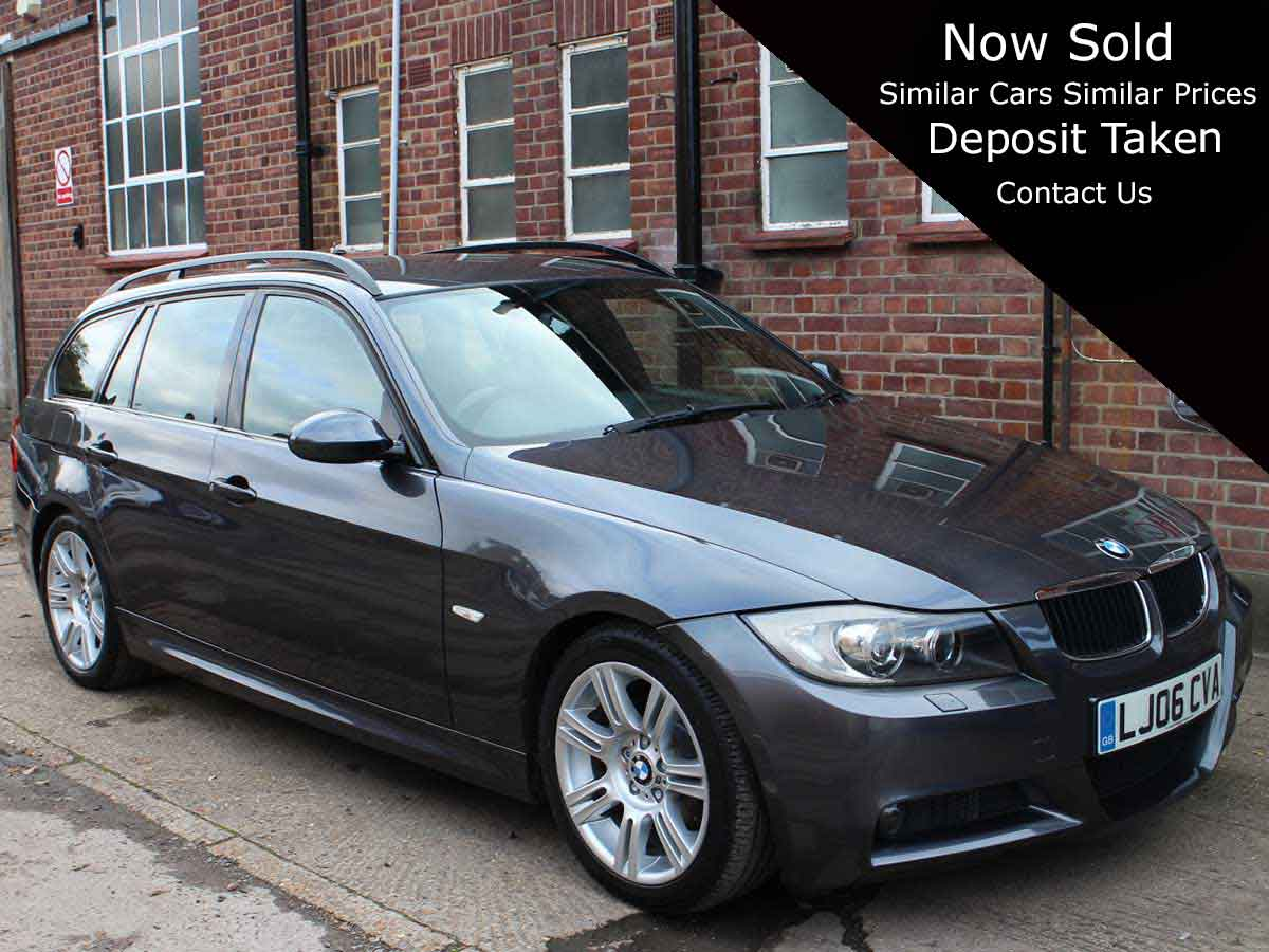 2006 BMW 320D M Sport Touring 5 Estate Automatic Grey with Black Leather 89,000 miles 2 Owners LJ06CVA