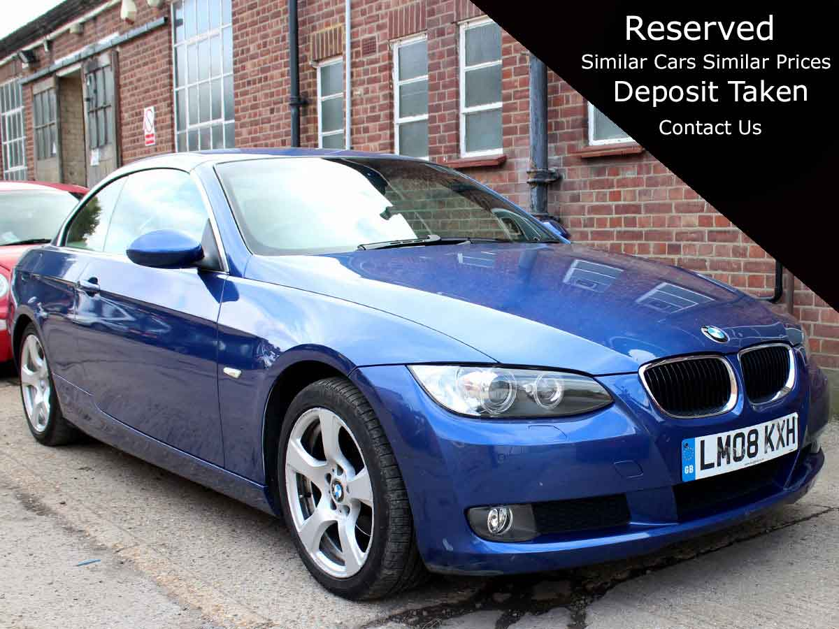 2008 BMW 320I 2.0i SE Convertible Automatic Blue Ivory Leather Seats Petrol 1 Owner 83,000 LM08KXH