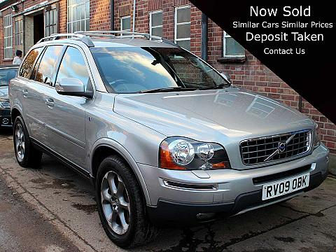 2009 Volvo XC90 Ocean Race D5 Auto Silver Black Leather 1 Owner FSH 93,000 miles RV09OBK