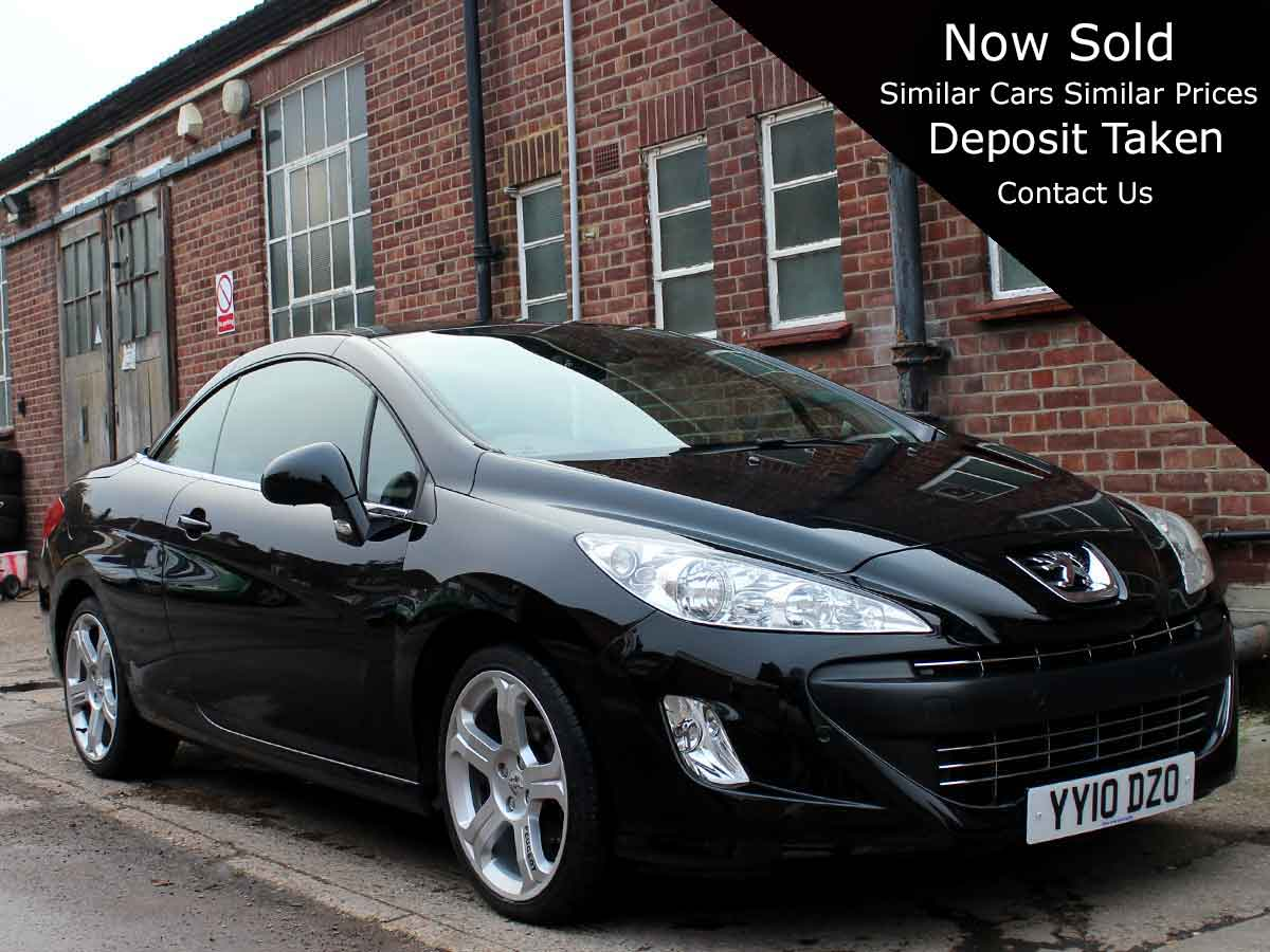 2010 Peugeot 308 CC 1.6 THP GT  Convertible Manual Petrol Black Deep Red Leather 35,000 FSH YY10DZO