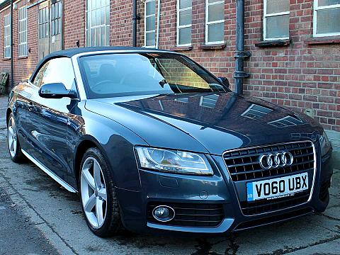 2010 AUDI A5 Cabriolet 2.0T FSI S Line Black Leather Manual Grey 51,000 miles FASH VO60UBX