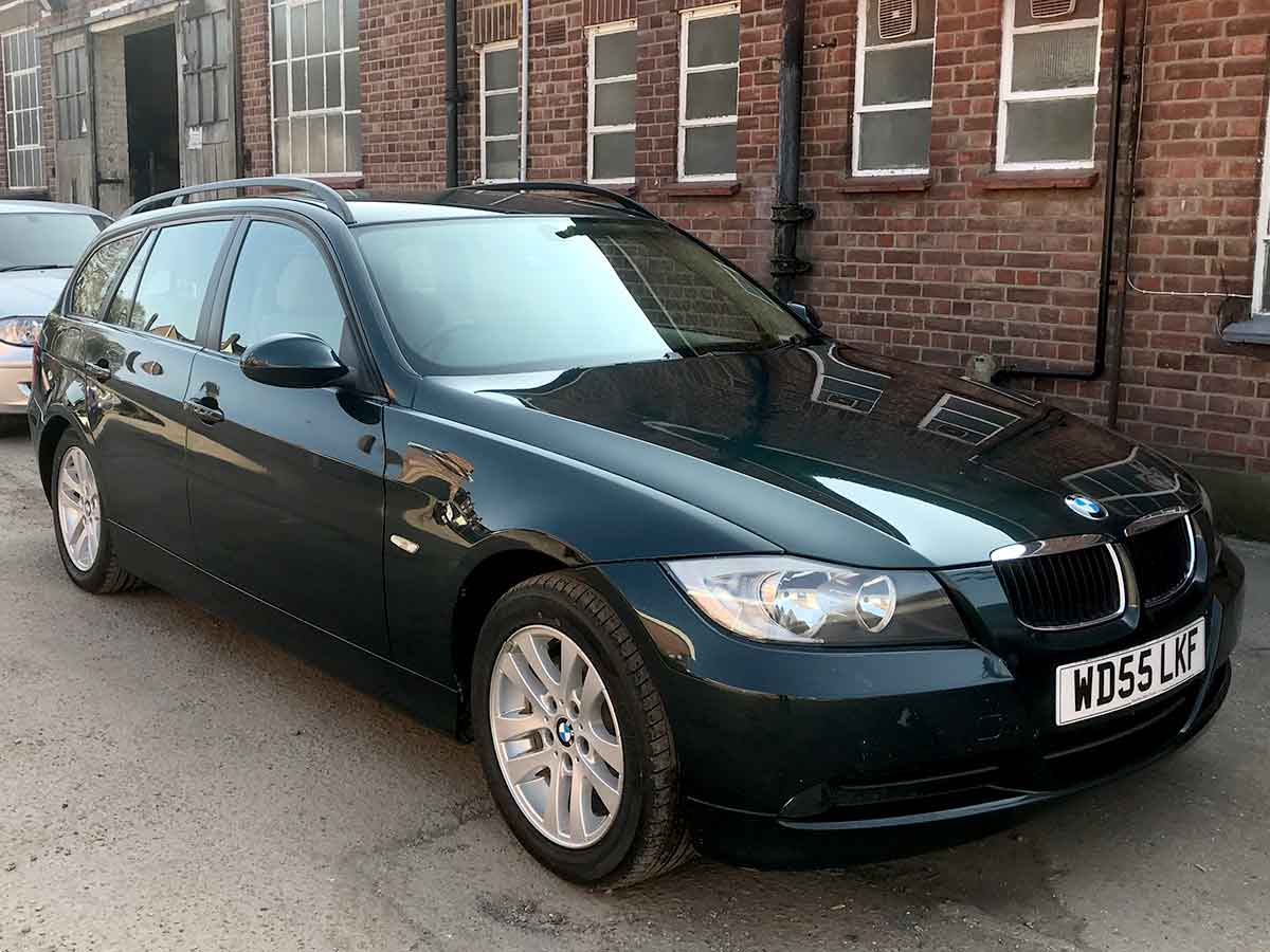 2005 BMW 320i 2.0 SE Touring Estate Automatic Petrol Deep Green Met Roof Rails 107,000 FSH WD55LKF