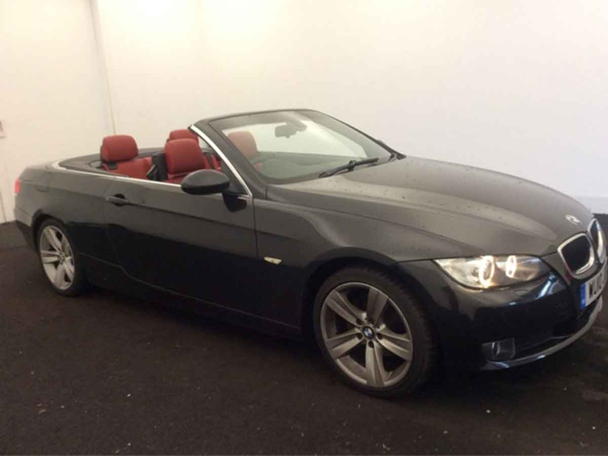 2010 BMW 320I 2.0 SE Highline Convertible Manual Petrol Sapphire Blac  Red Leather Years MOT 62,000 FSH WU10JOV