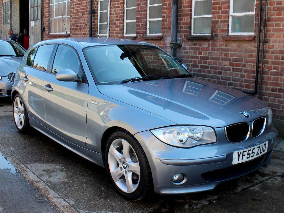 2006 BMW 1 Series Auto Hatchback 2.0 118i Sport Blue 5 Door  Alloys Climate Petrol 59,000 Excellent YF55ZUD