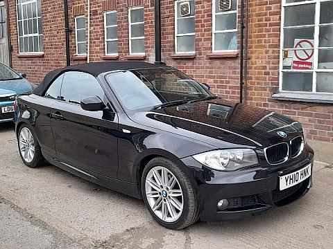 2010 BMW 118i 2.0 M Sport Automatic Convertible Petrol Black AC Alloys 1 Previous Owner FSH YH10HNK